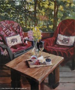 Stll Life on a Porch - Ros Charron 2015