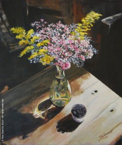 Still Life with Wildflowers and Blackberries - Ros Charron 2015